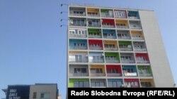 Зградата Папагал во центарот на Скопје.