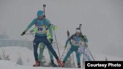 Казахстанские биатлонисты. Иллюстративное фото.