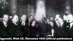 Рига келісіміне қол қою. 18 наурыз 1921 жыл.