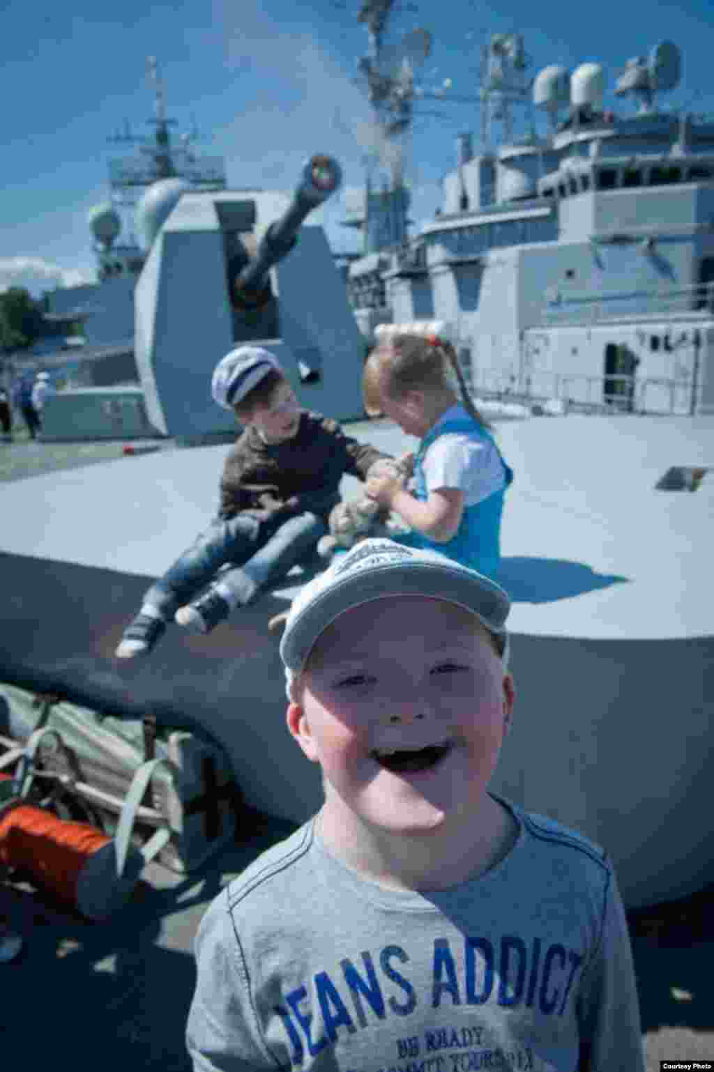 "A boy with Down syndrome on board the ""HMS York."""