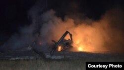 Хеликоптерска несреќа кај Струмица.Фотографијата е од порталот strumica.net.