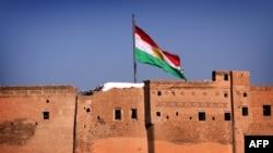 Kurdska zastava u Irbilu na severu Iraka