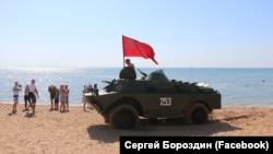 Російська бронемашина в Керчі 20 липня 2019 рік