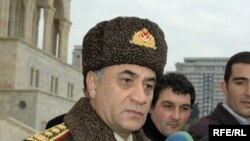 Interior Minister Ramil Usubov (file photo) brought the libel suit against editor Eyyub Karimov.