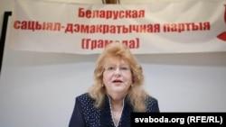 Старшыня Беларускай сацыял-дэмакратычнай партыі (Грамада) Ірына Вештард
