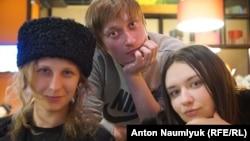 Мария Алехина, Александр Софеев и Ольга Борисова (слева направо)