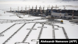 Cîmpul petrolier de la Bovanenkovo, din Rusia, care ar urma să allimenteze Nord Strem 2, gazoductul care ocolește Ucraina.