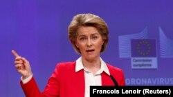 Урсула фонд дер Ляєн у своєму відеозверненні сказала, що «вражена» результатами марафону