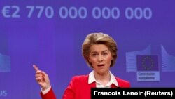 Ursula von der Leyen, Brüssel, 2 aprel 2020