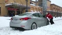 Снежные бури на восточном побережье Соединенных Штатов