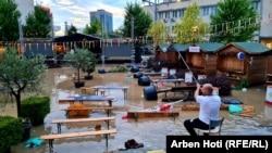 Косово: наводнение в Приштине после дождя
