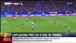 Pariž stadionyndaky partlamalar