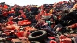 Грчкиот остров Лезбос под товарот на мигрантите