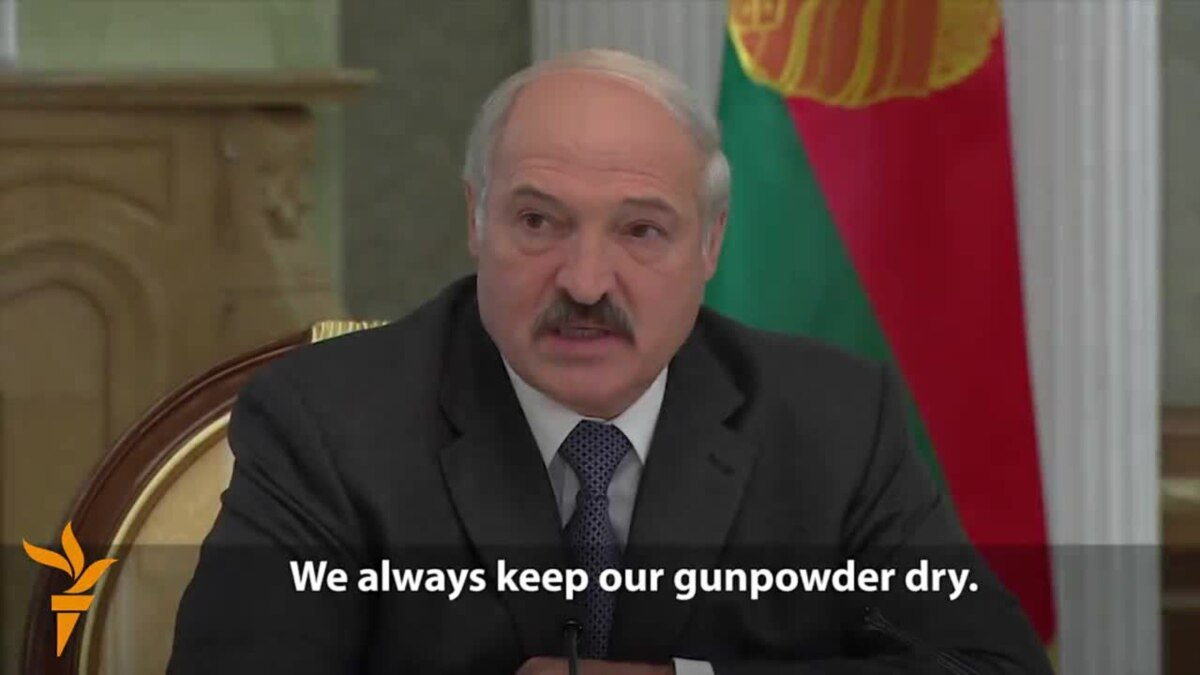 Lukashenka Vows Aggressors Against Belarus Will 'Die By The Sword'