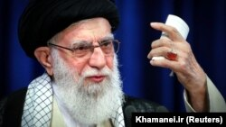 Iranian Supreme Leader Ayatollah Ali Khamenei delivers a televised speech in Tehran on June 3.
