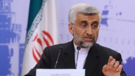 Iranian Chief Negotiator Saeed Jalili addresses the media in Moscow after talks with world powers there failed to resolve differences.