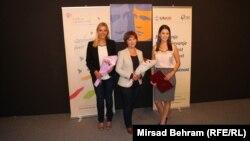 Dobitnice nagrade: Anđelka Marković, Snježana Mulić Softić i Vanja Stokić