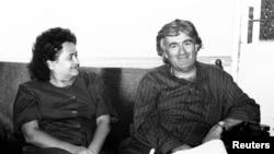 Ljiljana Zelen Karadžić i Radovan Karadžić, arhivska fotografija