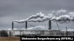"""Завод """"Крымский Титан"""" в Армянске в оккупированном Крыму"""