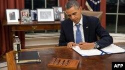 Президент США Барак Обама. Вашингтон, 30 сентября 2013 года.