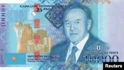 Банкнота номиналом 10 тысяч тенге с изображением президента Казахстана Нурсултана Назарбаева.