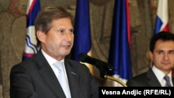 European Commissioner for European Neighborhood Policy and Enlargement Negotiations Johannes Han (file photo)