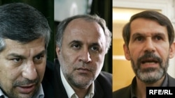 صادق محصولی (راست)، حمیدرضا حاجیبابایی (وسط) و مجید نامجو، سه وزیر پیشنهادی محمود احمدینژاد