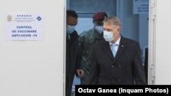 Romania - Klaus Iohannis la centrul de vaccinare anti-Covid-19