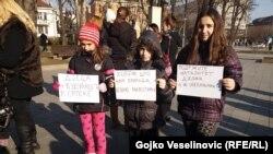 Sa protesta Mama Banjaluke, 19. januar 2016.