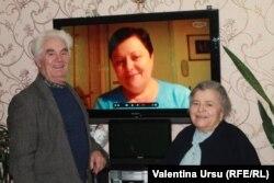 Viorica Iosip şi părinţii săi