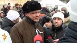 Рыжков и Удальцов: перед митингом