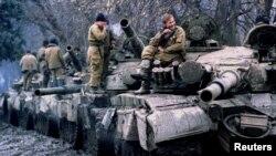 Soldați ruși în Cecenia
