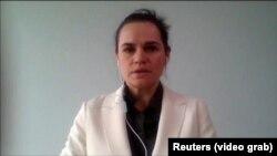 4 сентябри соли 2020 Светлана Тихановская бори аввал аз шаҳри Вилнюс истода дар Шӯрои амнияти СММ суханронӣ кард