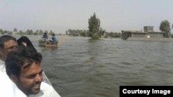 المياه تغرق قرى زوبع والنعيمية في الانبار