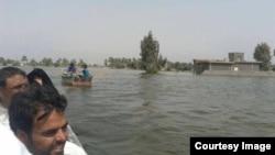 مياه الفرات تغمر قرى زوبع والنعيمية في الأنبار بعد إغلاق سدة الفلوجة