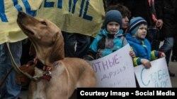 Митинг против эвтаназии бездомных животных, Москва, 2013