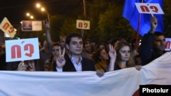 Armenia -- An opposition rally against constitutional reforms in Gyumri, 25Sep2015
