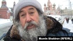 Дядя Гриша зимой на Москворецком мосту