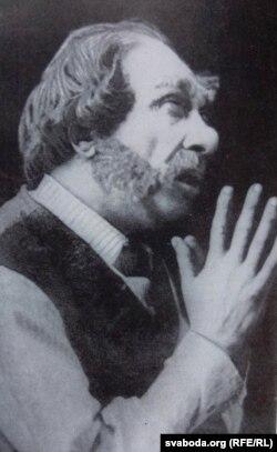 Уладзімер Крыловіч у ролі Граковіча са спэктакля «Перамога». 1926 год