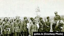 Сибирские партизаны. Снимок времен Гражданской войны
