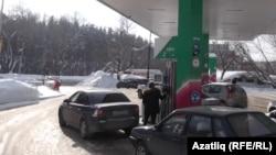 """Башнефть""нең бензин салу урыны"
