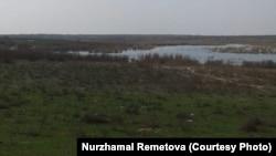 Озеро Когалы на границе Казахстана и Узбекистана. Фото жительницы Жетысайского района Туркестанской области Нуржамал Реметовой.
