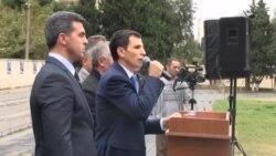 Митинг и встреча с избирателями кандидата в президенты Азербайджана Заида Оруджа