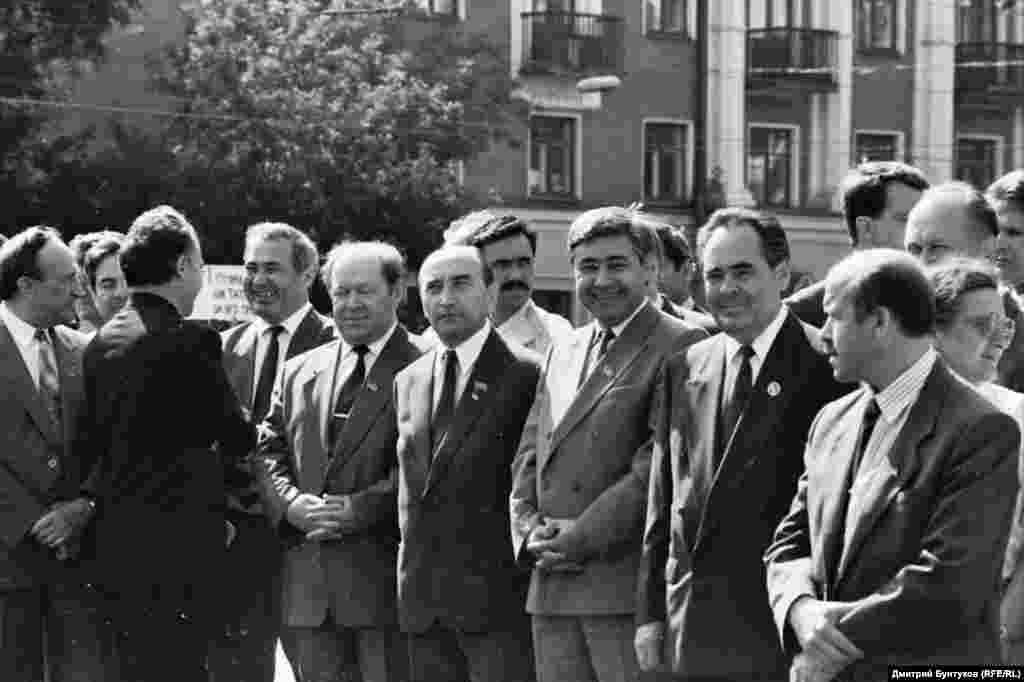 Руководители Татарстана Мухаммат Сабиров, Фарит Мухамметшин, Минтимер Шаймиев