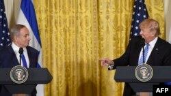 ԱՄՆ նախագահ Դոնալդ Թրամփի և Իսրայելի վարչապետ Բենյամին Նեթանյահուի համատեղ ասուլիսը Վաշինգտոնում, 15-ը փետրվարի, 2017թ․