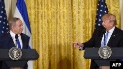 Benjamin Netanyahu və Donald Trump.
