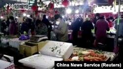 На рынке в Ухане