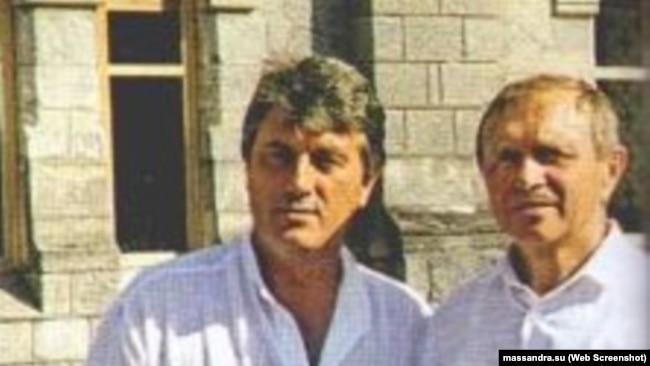 Виктор Ющенко и Николай Бойко на винзаводе «Массандра»
