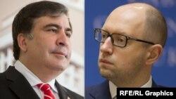 Михаил Саакашвили и Арсений Яценюк