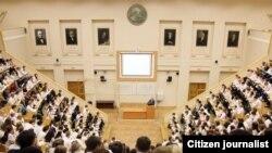 И. П. Павлов номидаги Санкт-Петербург Биринчи тиббиёт университетининг лекциялар зали.